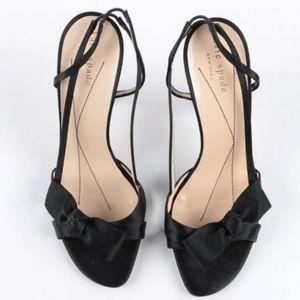 1fca0a62aef5 kate spade Shoes - Kate Spade MUSE Black Satin Slingback Heels Size 6